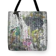 Abstract Calligraphy Art Painting Black Pink Green Gray Art Spring Color Painting Rice Paper Art Sjk Tote Bag