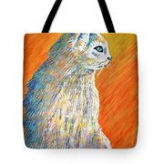 Jazzy Abstract Cat Tote Bag