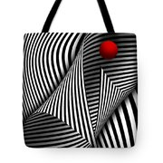 Abstract - Catch The Red Ball Tote Bag by Mike Savad