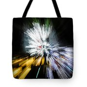 Abstract Christmas Lights - Burst Of Colors Tote Bag