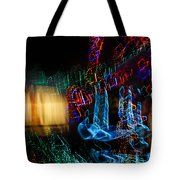 Abstract Christmas Lights - Color Twists And Swirls  Tote Bag