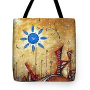 Abstract City Cityscape Contemporary Art Original Painting The Lost City By Madart Tote Bag