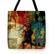 Abstract Collage 01 Tote Bag