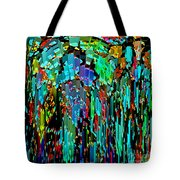 Abstract Color Falls Tote Bag