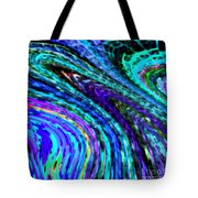 Abstract Color Flow Tote Bag