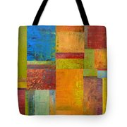 Abstract Color Study Collage Ll Tote Bag