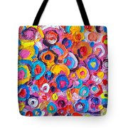 Abstract Colorful Flowers 2 Paint Joy Series Painting By