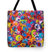 Abstract Colorful Flowers 3 - Paint Joy Series Tote Bag
