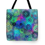 Abstract Colorful Rings Tote Bag