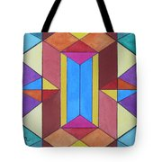 Abstract Colorful Stained Glass Window Design  Tote Bag