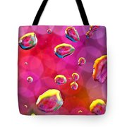 Abstract Colorful Water Drops Tote Bag
