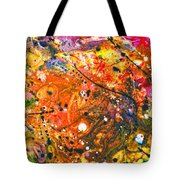 Abstract - Crayon - The Excitement Tote Bag by Mike Savad