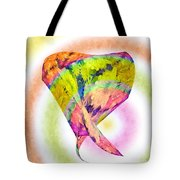 Abstract Crazy Daisies - Flora - Heart - Rainbow Circles - Painterly Tote Bag