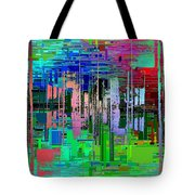 Abstract Cubed 19 Tote Bag