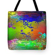 Abstract Cubed 64 Tote Bag