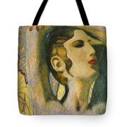 Abstract Cyprus Map And Aphrodite Tote Bag