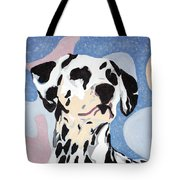 Abstract Dalmatian Tote Bag