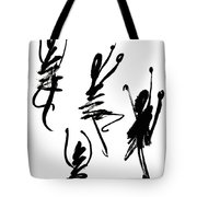 Abstract Dancers In Black And White Tote Bag