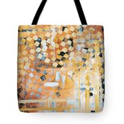 Abstract Decorative Art Original Diamond Checkers Trendy Painting By Madart Studios Tote Bag