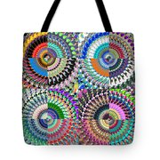 Abstract Digital Art Collage Tote Bag