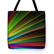 Abstract Digital Fractal Flame Art Tote Bag