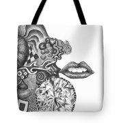Abstract Drawing #1 - Young Woman Tote Bag