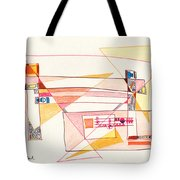 Abstract Drawing Eighteen Tote Bag