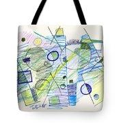 Abstract Drawing Seven Tote Bag