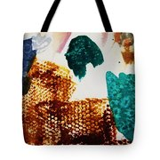 Abstract-duck-dancing Bear And Buffalo Tote Bag