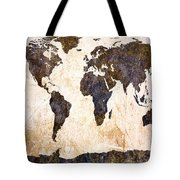Abstract Earth Map Tote Bag