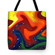Abstract Eight Of Twenty One Tote Bag