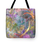 Abstract Floral Designe - Panel 1 Tote Bag