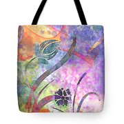 Abstract Floral Designe - Panel 2 Tote Bag