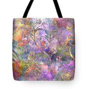Abstract Floral Designe  Tote Bag