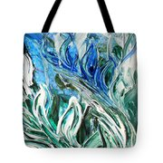 Abstract Floral Sky Reflection Tote Bag