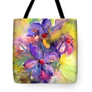 abstract Flower botanical watercolor painting print Tote Bag