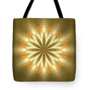 Abstract Flower In Gold And Silver Tote Bag