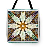 Abstract Flower Triptych Tote Bag