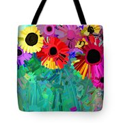 abstract - flowers- Flower Power Four Tote Bag
