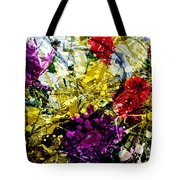 Abstract Flowers Messy Painting Tote Bag