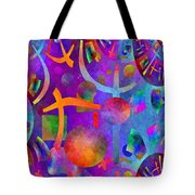 Abstract Fractillious - Episode One  Southwestern Tote Bag