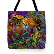 Abstract Fronds In Jewel Tones - Square Tote Bag