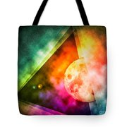 Abstract Full Moon Spectrum Tote Bag by Phil Perkins