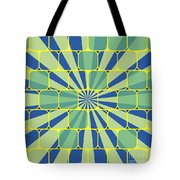 Abstract Geometric Blue Tote Bag