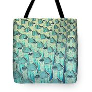 Abstract Green Glass Bottles Tote Bag