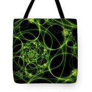 Abstract Green Light Fractal Tote Bag