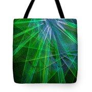 Abstract Green Lights Tote Bag