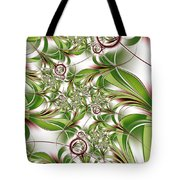 Abstract Green Plant Tote Bag