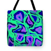 Abstract Green Purple Blue Tote Bag