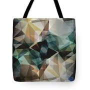 Abstract Grunge Triangles Tote Bag
